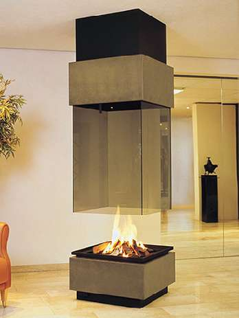 modus design suspended fireplaces
