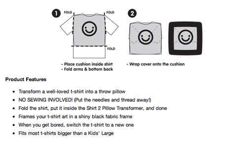 Turn Any Shirt into a Pillow