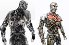Recycled Robot Sculptures - Motorcycle Man Sculpture is Made out of Recycled Bike Parts
