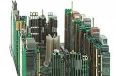 Circuit Board Cityscapes