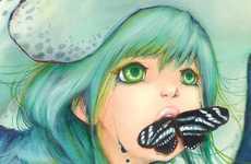 Mystifying Mermaid Art - The Camilla d'Errico Limited Edition Zebramilk Print is Captivating