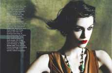 Bleached 60s Celeb Spreads - The Retro Ravishing Keira Knightley by Mario Testino for Vogue UK