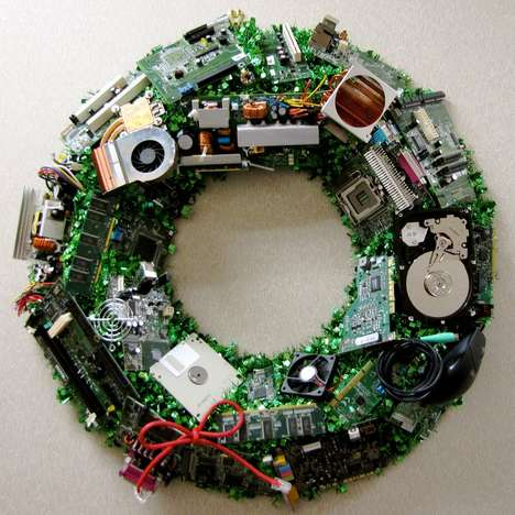 holiday wreath for geeks