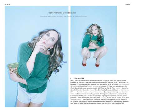 Celeb Impersonation Shoots - The Cedric Rivrain Double Editorial Spoofs Carrie Bradshaw