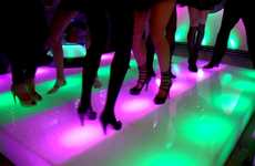 Rainbow Disco Dance Floors - Light Energy Studio Makes Partytastic Decor