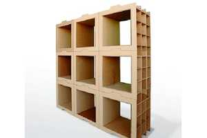 The Dany Gilles 800g Library Makes Interlocking Eco Storage