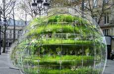 Inflated Flowering Spheres - Amaury Gallon Bubble Gardens Provided Organic Urban Refuges