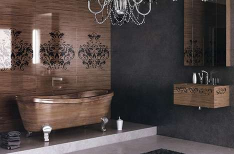 Luxurious Wooden Washrooms - The Flora Style Fusion Bathroom Line is Rich and Refined