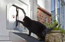 Overweight Cat Entrances - The Fat Cat Flap Makes It Easier for Fat Cats to Come Home