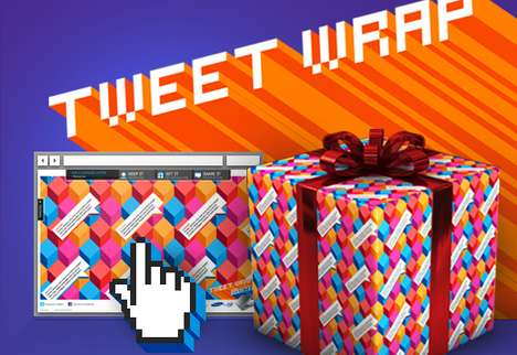 Social Media Gift Wrap - Tweet Wrap Spreads Twitterific Spirit One Present at a Time