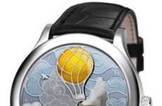Giant Literary Timepieces - The 'Five Weeks in a Balloon' Watch Pays Homage to Jules Verne