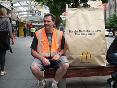 Colossal Cholesterol Meals - The McDonald's Massive McMuffin Campaign is a Fast Food Frenzy