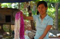 Ethical Silk Scarves - 'Cambodian Threads' Gives School Supplies to Impoverished Kids