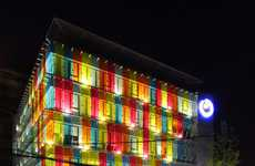 Color Spectrum Structures - Los Heroes Office Complex is an Architectural Rainbow