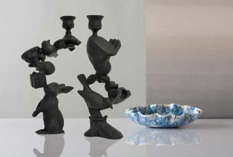 wonderland candleholders by stephen johnson