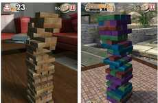 Party Board Game Apps - The Jenga App Brings Towering Tension into the Digital Form