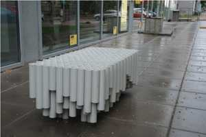 The Rainwater Pipe Bench Puts Scrap PVC Pipes to Good Use