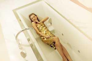 Irinia Funtikova is a Golden Goddess for Photographer Timmothy Lee
