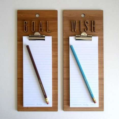 Wishes and Goals Clipboards