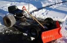 Clean Your Driveway With a Pedal-Powered Snow Plow