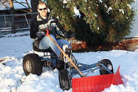 Pedal Powered Snow Plow