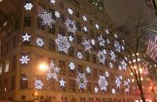 Projected Snowflake Shows - The Saks Fifth Avenue Light Show Gets Shoppers in a Festive Mood
