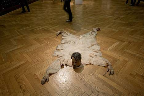 Disturbing Home Decor - Artist Richard Stipl Envisions Hitler as a Bear Skin Rug