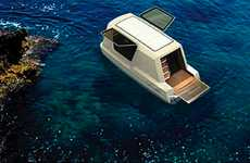 Amphibious Mobile Abodes - The Gambo Design 'Thansadet' is Your Home on Land or Water