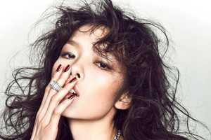 Fei Fei Sun Rocks Tousled Tresses for Elle China December 2010