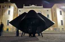 Oversized Cone Installations - The Huub Ubbens 'Sottovoce' Recites Italian Literature