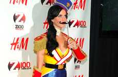 Glamifying Wooden Figures - The Katy Perry Nutcracker Costume Cracks the Christmas Spirit