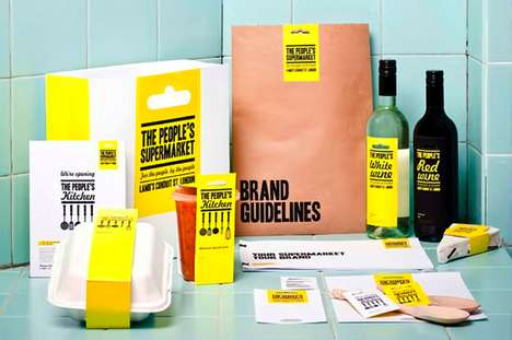Back-to-Basics Branding - People's Supermarket Packaging Reinvigorates No-Name Wrappers