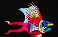 Post-Consumer Fish Artistry