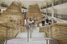Woven Wooden Pavilions - The RDAI Hermes Rive Gauche Boutique Borders on Beaver Dam