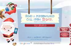 Northpole Search Engine Calls - No Need for Letters Anymore with Google 'Send a Call from Santa'