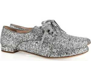 These Miu Miu Glitter and Crystal Brogues are Perfect for New Year's Eve