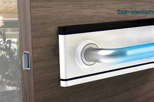 This Door Handle with a Self-Sterilization System Makes Spaces Sanitary