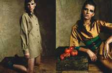 Cultivated Harvest Couture - Toni by Stefano Moro Mixes Bold Organic Color with Beige