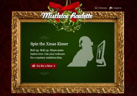 Virtual Smooching Apps - Make Out With Your Webcam With the Mistletoe Roulette Website