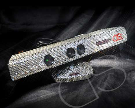 Crystallized Gaming Consoles - The Swarovski Xbox 360 Kinect was Made for  Diva Gamers
