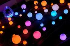 Interactive Glowing Globes