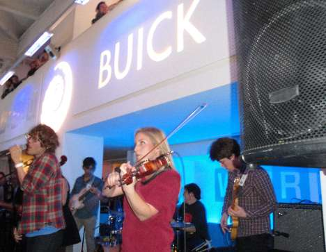 Pop-Up Shop Concerts - Ra Ra Riot Busts Out the Beats at Wired Store's Buick 'Regal Remix&#821