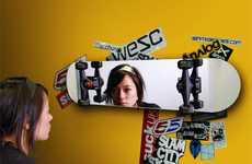 Mirrored Skateboard Decks - The Skate Mirror is Perfect for a Teenagers Room