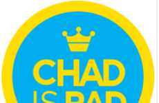 Personalized Foursquare Badges - The Chad Stroller 'Chadge' Badge is One of a Kind