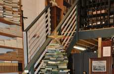 Novel Holiday Decor - The Juniper Books Christmas Tree is Made Up of Almost 800 Books