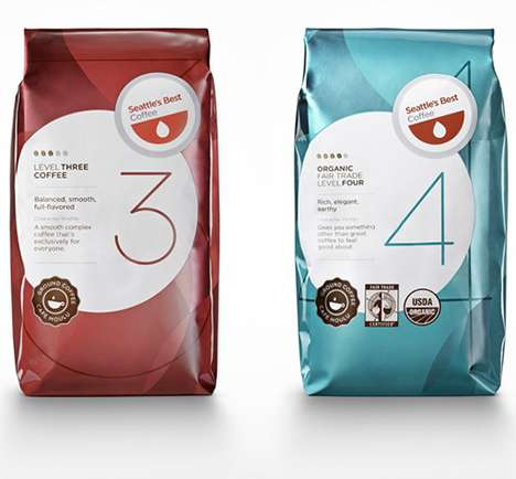 Minimalist Brewing Design - Seattle's Best Coffee Design Cleans Up Their Look
