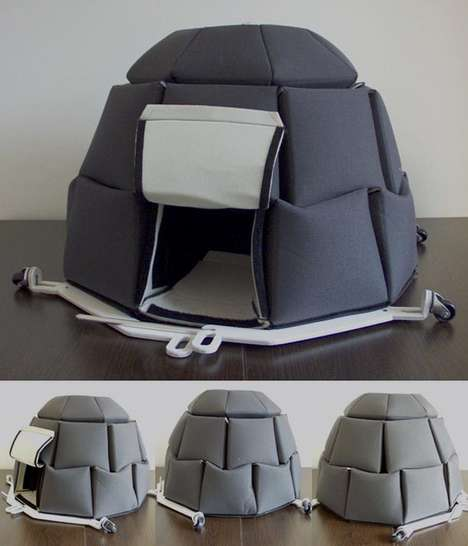 Cuddly Collapsable Igloos - The Georgi Djongarski I-Gloobox for Vagabonds is a Luxury Street Home