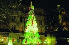 Eco-Friendly Tannenbaums - The Plastic Bottle Christmas Tree Promotes Recycling