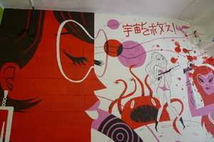 The Kevin Dart Q Pop Mural Celebrates Color and Japanese Culture