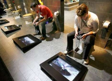 Bathroom Gaming Consoles - Toilet Gamers Don't Let the Call of Nature Take Them Away Gaming